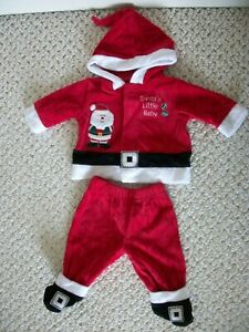 2 Pc, Santa's Baby Outfit, T-Shirt and Christmas Stocking  (#0121)