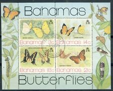 "1975 Bahamas VF used  souvenir sheet "" Beautiful Butterflies"" Sc373a scarce used"