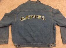 New Vintage Camel Cigarette Embroidered Logo Denim Jean Jacket XL American Born