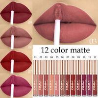 DNM Liquid Lipstick 12 Colors Matte Lip Gloss Lip Glaze Impermeable