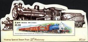 Sri Lanka 2011 Steam Viceroy Special Train Railways Transport die-cut MS MNH