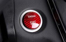 Mercedes Benz RED Carbon Fibre Engine Start Button Cover/Trim W205 GLC C63