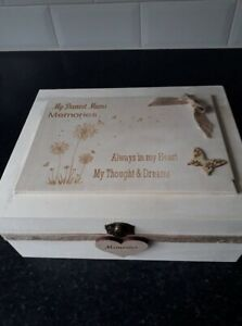 Dearest Mother  Engraved Wooden In Memory Memorial Box for Mum