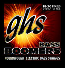 GHS P3045 Piccolo Bass Boomers Roundwound Bass Guitar Strings