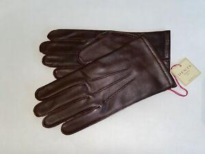 Genuine Dents warm lined leather gloves - Keston-English Tan