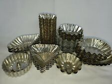 87 Vintage Metal FLUTED Jello TART TINS MOLDS Crafts Soap Wax Chocolate Pastry