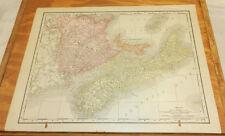 1900 Antique COLOR Map/NEW BRUNSWICK, PRINCE EDWARD ISLAND, NOVA SCOTIA, CANADA