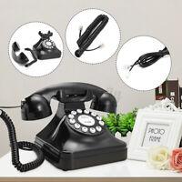 Vintage Retro Antique Phone Wired Corded Landline Telephone Home Desk Decor