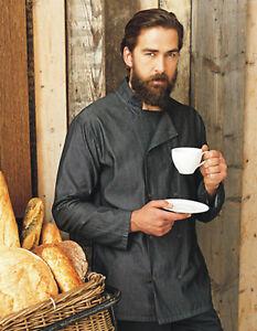 Kochjacke Bäckerjacke Denim Chefs Jacket bestickt mit eigenen Logo oder Text