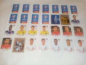 124 stikers Euro 2016 France panini made in Brazil.
