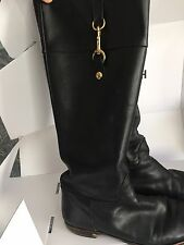 Coach Boots Black Riding Boot Style Size 9 B