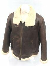 UGG Men's Auden Shearling Leather Aviator Jacket 1095891 Chestnut Brown Size XL