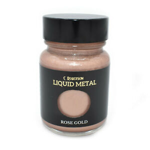 ROSE GOLD LIQUID METAL METALLIC PAINT 30ml WOOD PAINTING LEAF GILDING CR78651D