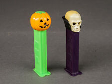 Pez Dispensers Skull & Pumpkin Halloween Theme with Feet Yugoslavia and Hungary
