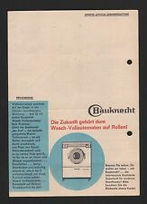 Stuttgart, publicité 1963, G. Bauknecht GmbH