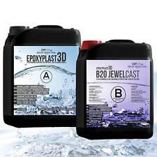 4,5 KG Epoxidharz EpoxyPlast 3D B20 JewelCast Glasklar Epoxi Resin Art Schmuck