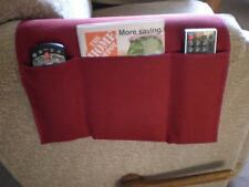 Chair Cozee TV Remote Control Holder Armrest Organizer Caddy-Maroon