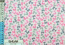 Baumwollstoff Robert Kaufman Füchse Stoff Nähen hochwertig grau rosa Minis USA