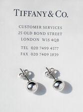 Tiffany & Co Argento Sterling City Hardwear Sfera Perlina 8mm Orecchini