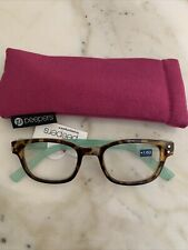 New peepers reading glasses 1.50 Passport Tortoise/Teal Includes Soft Case