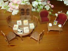 Sylvanian Families: Salón Conjunto Dulce Hogar, Tomy Vintage Muebles Recargado