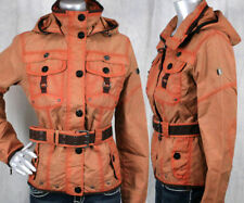 WELLENSTEYN USA women's Chocolate Jacket coat Orange hooded  COC472