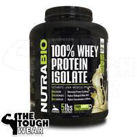 NUTRABIO - WHEY PROTEIN ISOLATE 5Lbs -Vanilla- 100% Clean Whey Protein