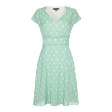 %Fever London Amalfi Polka Dot Kleid aqua M/L Uk12