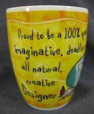 Dazzling Designer Coffee Mug History & Heraldry Fine Porcelain It's Only A Job