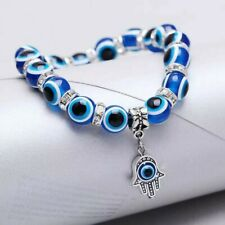 Charm Evil Eye Beaded Good Luck Protection Bracelet Stretch HAMSA