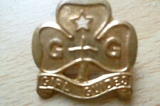 BADGE- GIRL GUIDES BADGE by Collins London, Reg Trade Mark (apx.2x2 cm)