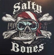 Aufkleber Salty Bones Autoaufkleber Sticker Taucheraufkleber Tauchaufkleber