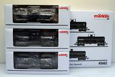 Märklin H0 45662 Wagen - Set Tank Cars, schwarz, 3 Stück