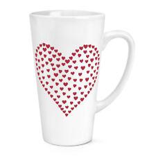 Coeur De Coeurs 483ml Grand Latte Tasse - Amour Rouge St. Valentin