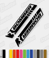 MARZOCCHI BOMBER RAZOR Style Replacement Decals - Custom / Fluorescent Colours