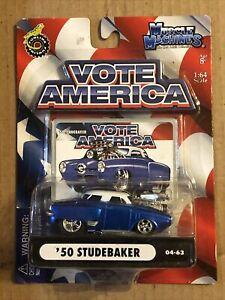 Muscle Machines Vote America '50 Studebaker Die Cast Car 1/64 scale Funline NEW