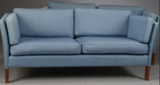 Vintage retro mid century 60s 70s Danish 2 seat sofa couch blue