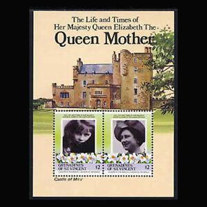 ST VINCENT GR, Sc #500, MNH, 1985, S/S, Royalty, Queen Mother, A450FDDcx