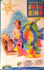 Lot of 2 Intex Tropical Fish Swim Ring Inflatable Ages 3-6