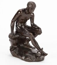 19th century Grand Tour Style Italian Patinated Bronze figure of Sitting Hermes