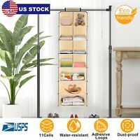 11 Cells Hanging Closet Shelves Storage Rack For Clothes Towels Socks Save Space