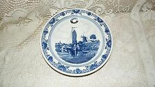 VINTAGE AUTHENTIC BLUE DELFT HOLLAND PLATE/BOWL SCR. BLAUW DISTER?