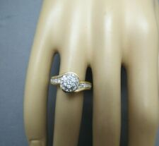 Size 7 Halo Cluster 4.81g Appraisal $1337 10K Diamond Ring 3/4 Tcw Yellow Gold