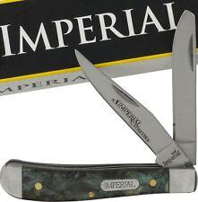 Schrade Imperial Purple Abalone Swirl Celluloid Trapper Folding Knife IMP19PRT
