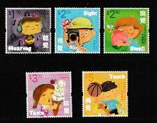 Children's stamps Five Senses set of 5 stamps mnh 2017 Hong Kong #1860-4