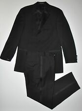"HUGO BOSS Baker Jazz Super 100 Wool Black 3 Button Tuxedo 40R Pants W31"" L32"""