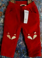 Russet Red Cord TROUSERS 0-3mths by JoJo Maman BéBé, corduroy fully lined inside
