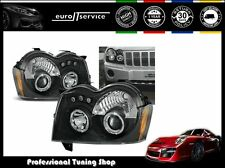 FARI ANTERIORI HEADLIGHTS LPCH06 CHRYSLER JEEP GRAND CHEROKEE 2005-08 ANGEL EYES