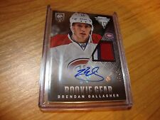 2013/14 Titanium Rookie Gear Auto 3 Color Patch Brendan Gallagher  SP  /15