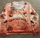 Funny Christmas Sweater Ugly Xmas Christmas Sweatshirt Men's XL